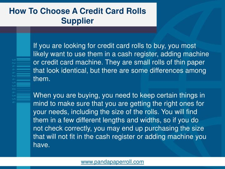 How to choose a credit card rolls supplier1