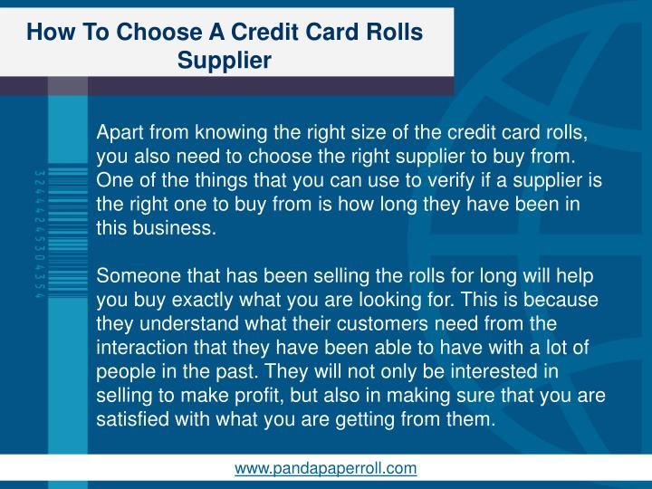How to choose a credit card rolls supplier2