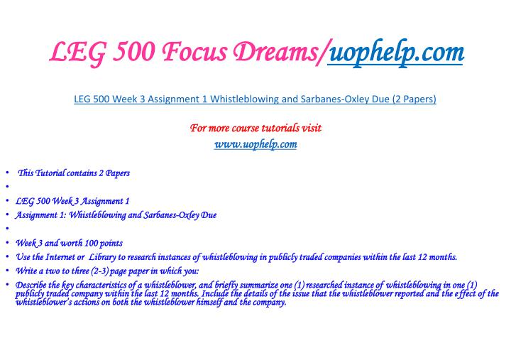 LEG 500 Focus Dreams/