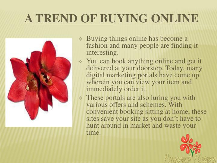 A trend of buying online