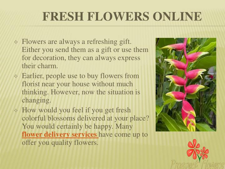 Flowers are always a refreshing gift. Either you send them as a gift or use them for decoration, they can always express their charm.