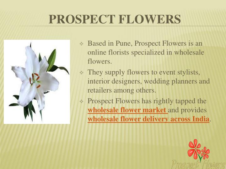 Based in Pune, Prospect Flowers is an online florists