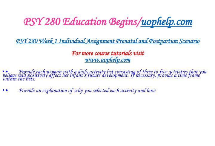 Psy 280 education begins uophelp com2