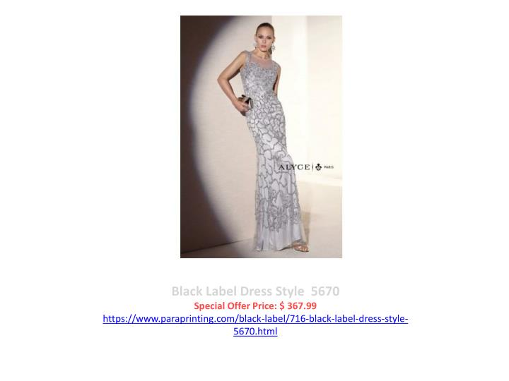 Black Label Dress Style  5670