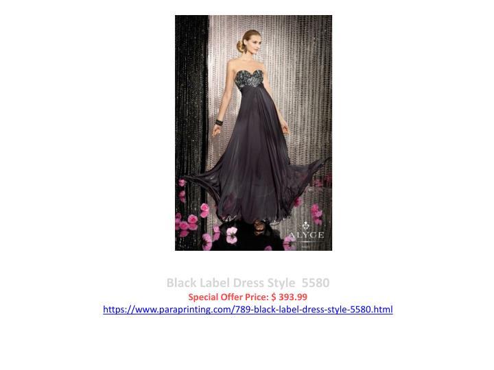 Black Label Dress Style  5580