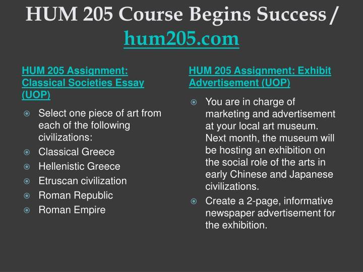 Hum 205 course begins success hum205 com1