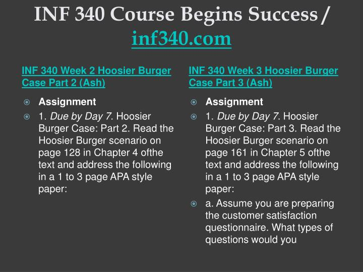 Inf 340 course begins success inf340 com2