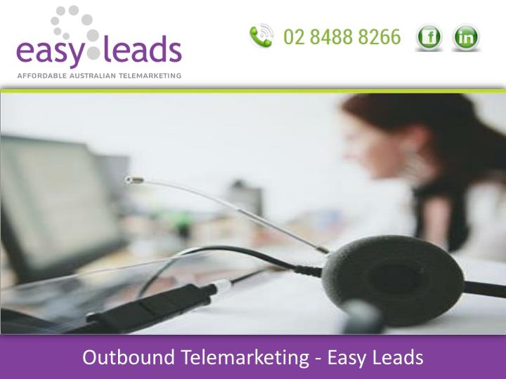 Outbound telemarketing easy leads