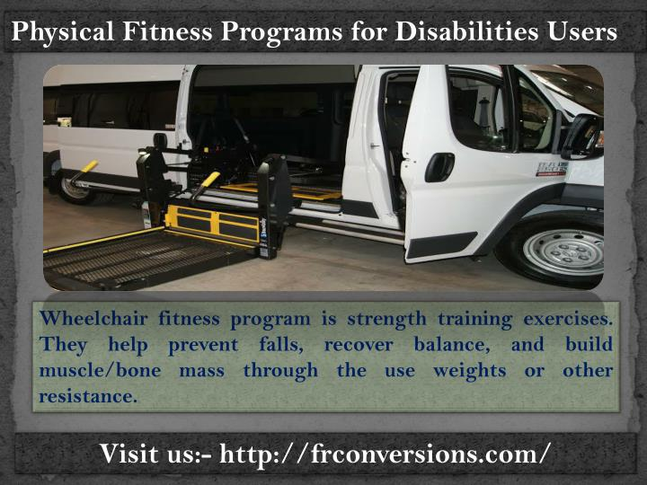 Physical Fitness Programs for Disabilities Users