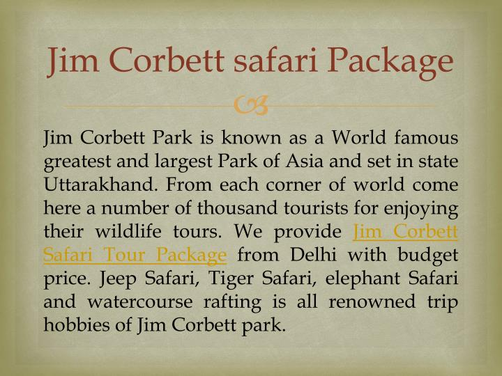 Jim Corbett safari Package