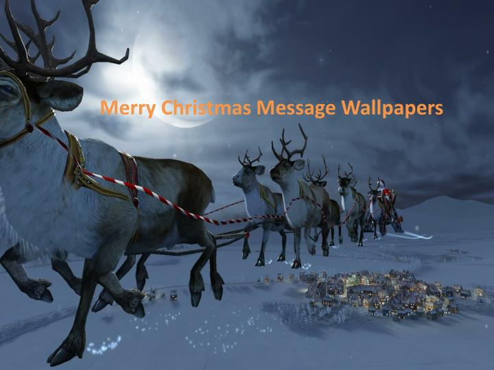 Merry Christmas Message Wallpapers