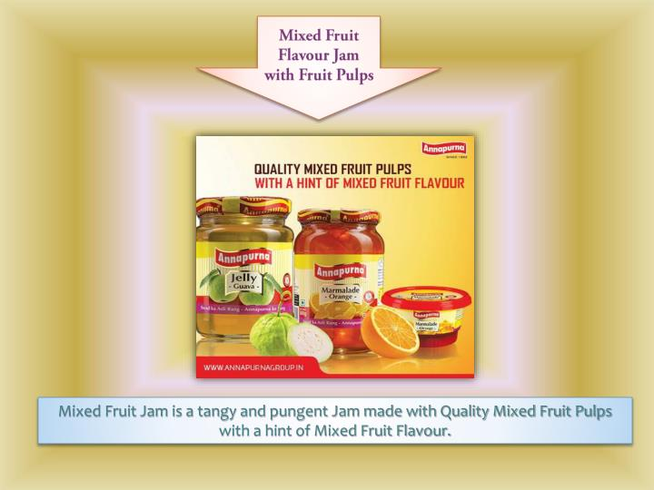 Mixed Fruit Flavour Jam with Fruit Pulps