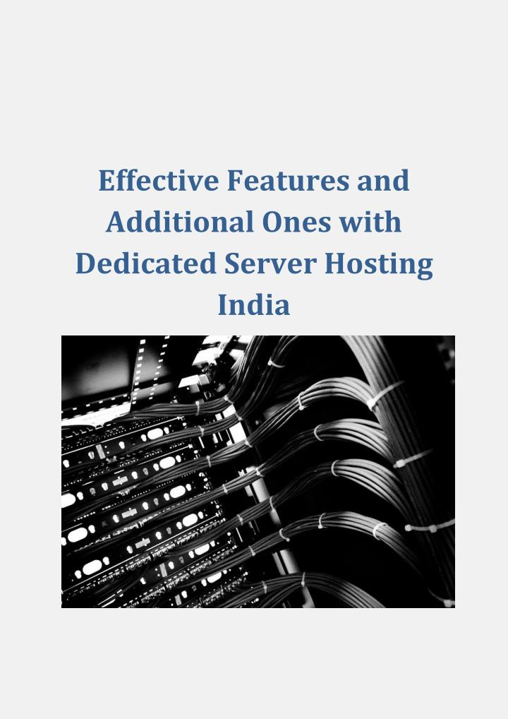 Effective Features and