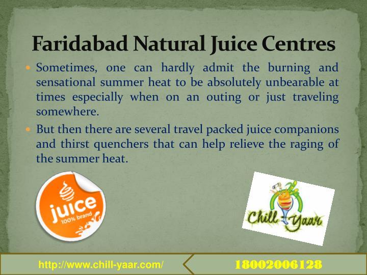 Faridabad natural juice centres