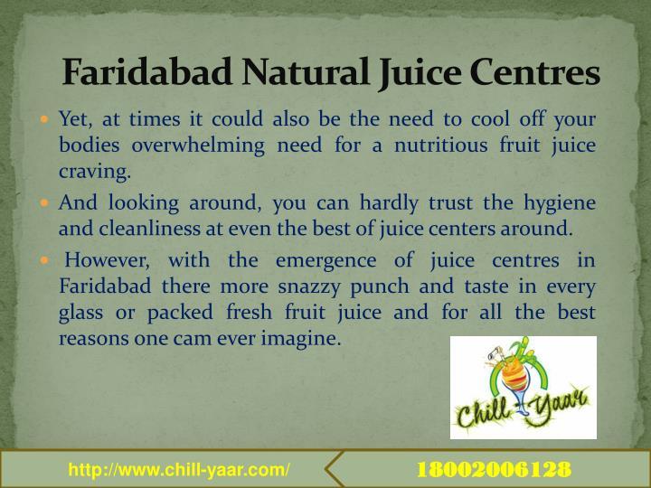 Faridabad natural juice centres1
