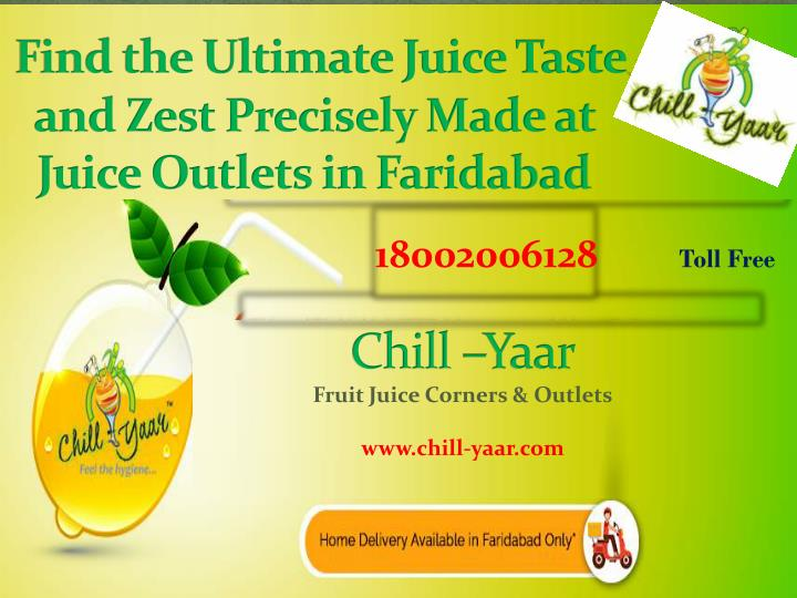 Find the ultimate juice taste and zest precisely made at juice outlets in faridabad