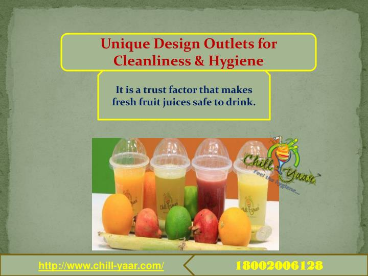 Unique Design Outlets for Cleanliness & Hygiene