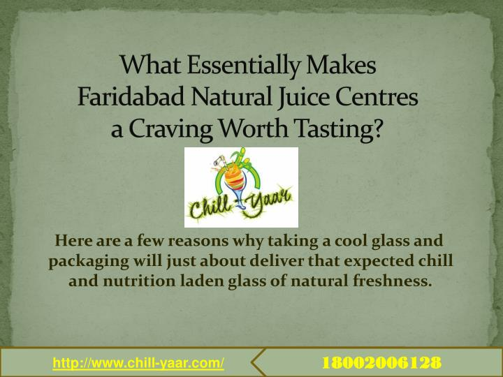What Essentially Makes Faridabad Natural Juice Centres a Craving Worth Tasting?
