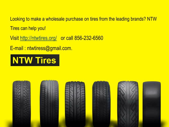 Looking to make a wholesale purchase on tires from the leading brands? NTW Tires can help you!