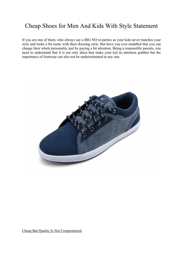 Cheap Shoes for Men And Kids With Style Statement
