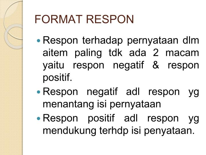 FORMAT RESPON