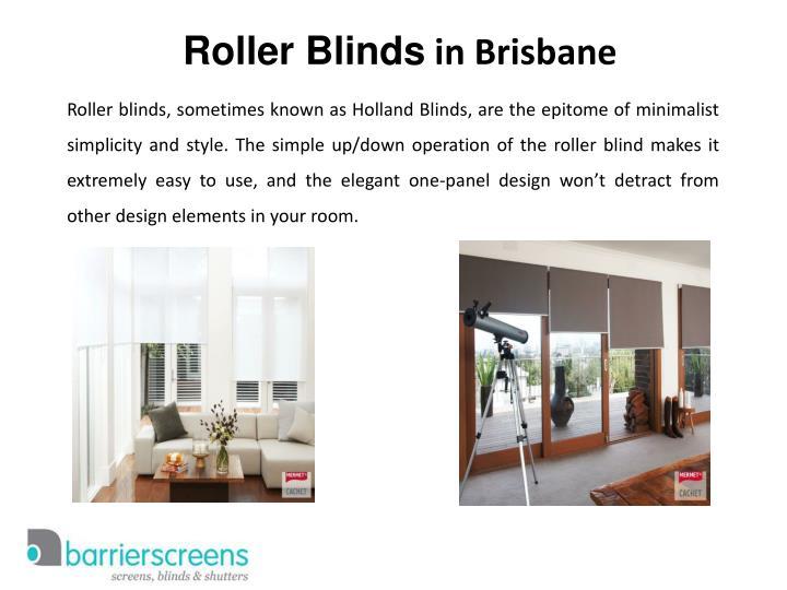 Roller blinds in brisbane