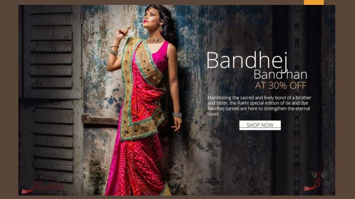Exclusive jaipuri bandhej sarees