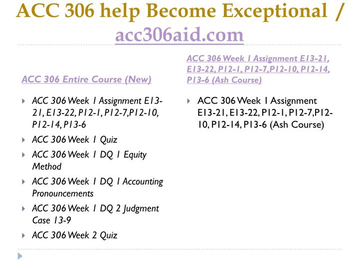 Acc 306 help become exceptional acc306aid com1