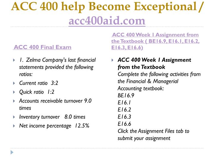 Acc 400 help become exceptional acc400aid com2