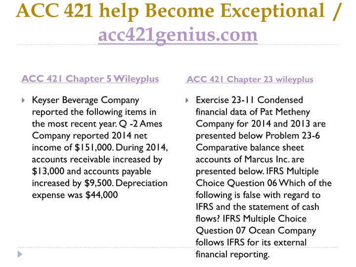 Acc 421 help become exceptional acc421genius com1
