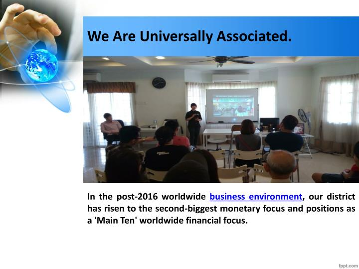 We Are Universally Associated.