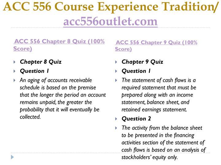 ACC 556 Course