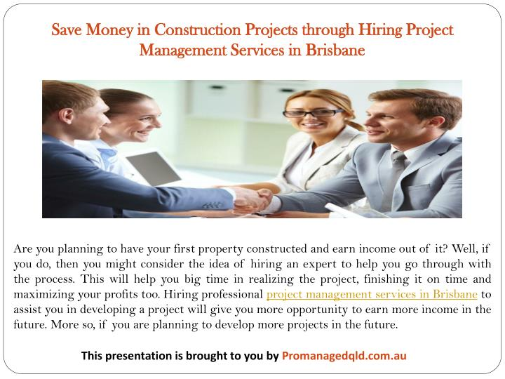 Save Money in Construction Projects through Hiring Project Management Services in Brisbane