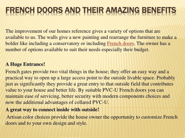 French doors and their amazing benefits