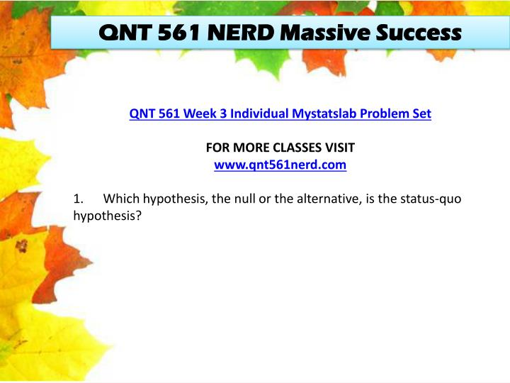 week 3 problem set qnt 561 Set up the null and alternative hypotheses to determine if the default rate this year is different from 0060 4 for the a and observed significance level (p«va1ue) pair, indicate whether the.