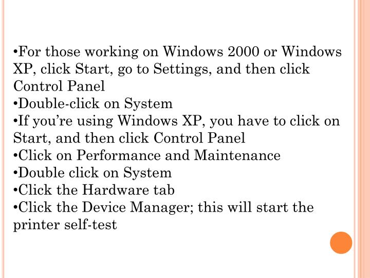 For those working on Windows 2000