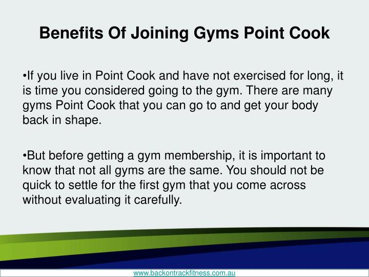 Benefits of joining gyms point cook1