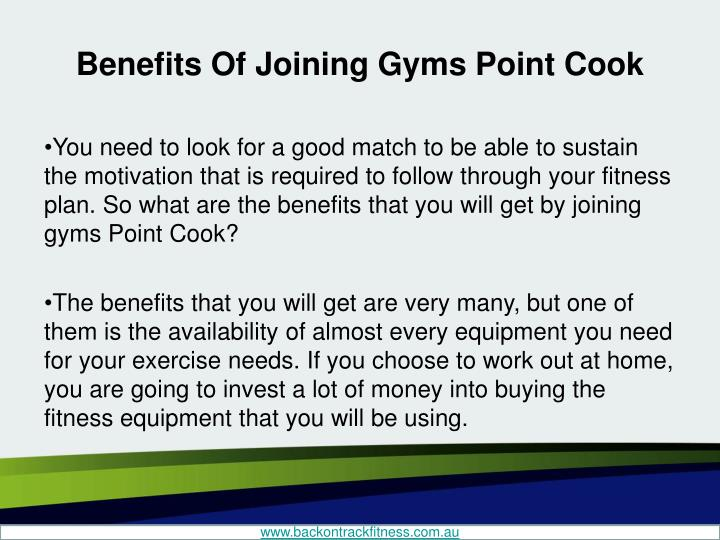 Benefits of joining gyms point cook2