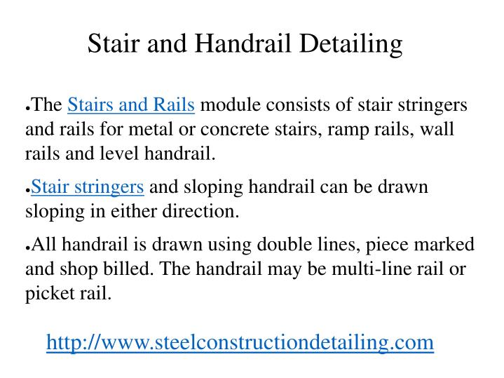 Stair and handrail detailing