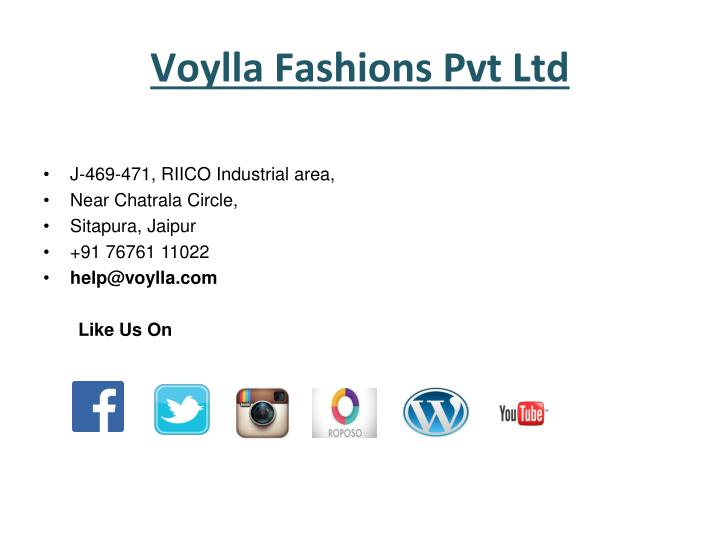 Voylla Fashions Pvt Ltd