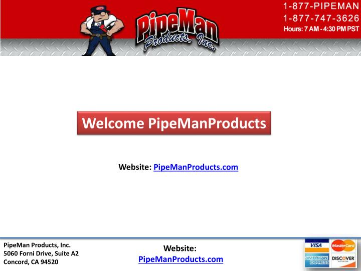 Welcome PipeManProducts