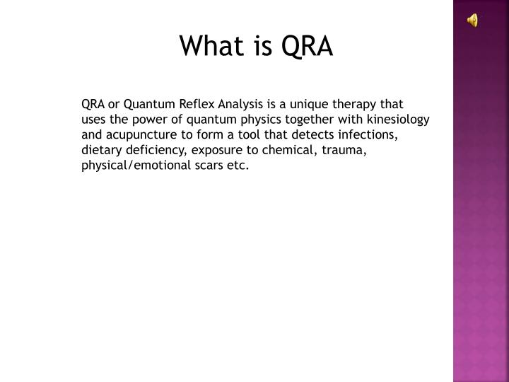 What is QRA