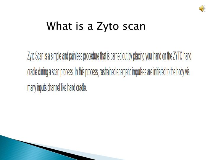 What is a Zyto scan