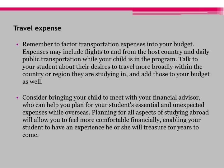 Travel expense