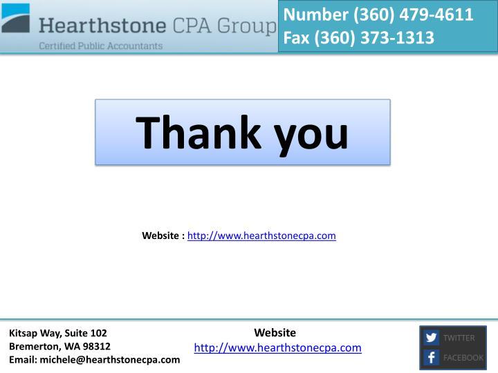 Number (360) 479-4611