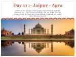 day 11 jaipur agra