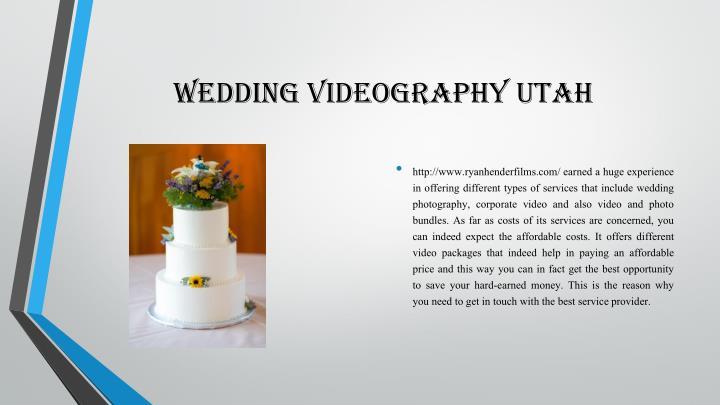 Wedding videography utah