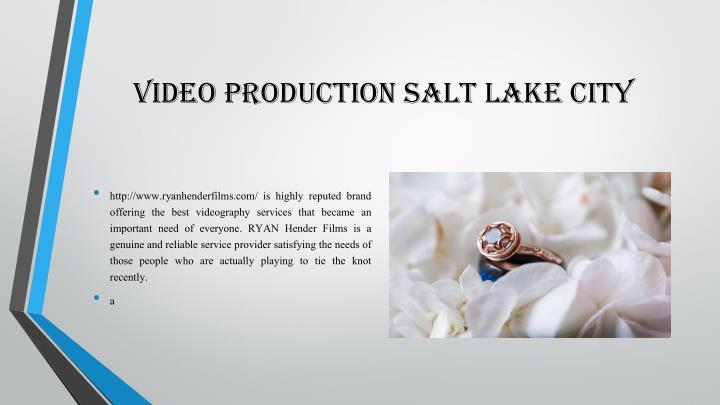 video production salt lake city