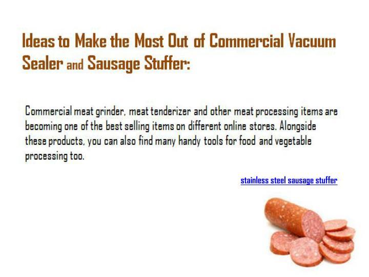 stainless steel sausage stuffer
