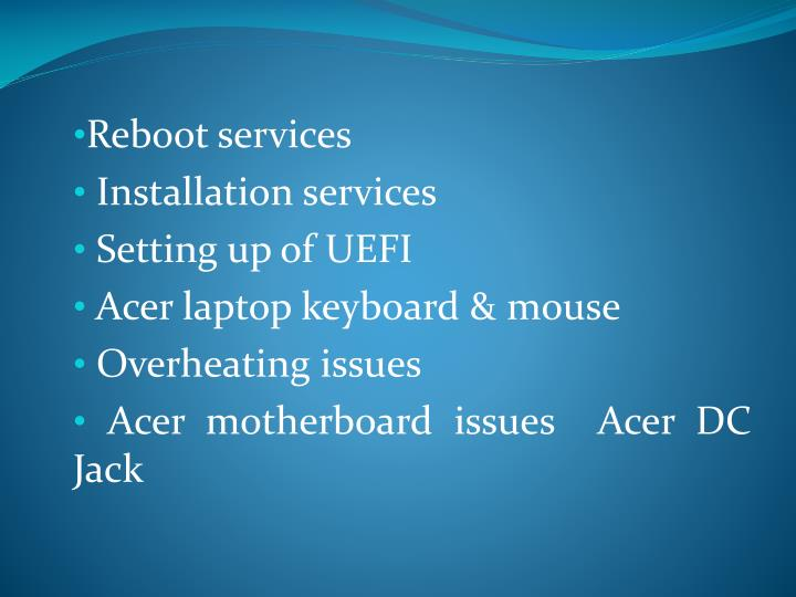 Reboot services